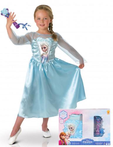 Elsa Frozen™ kostuum voor meisjes met microfoon