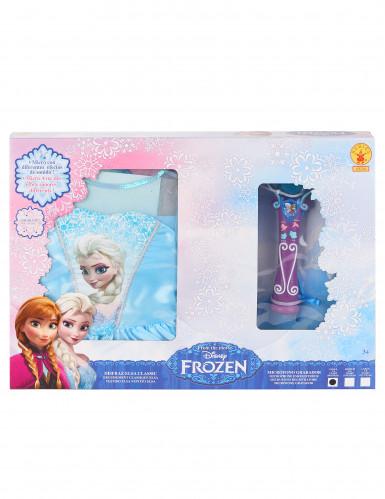Elsa Frozen™ kostuum voor meisjes met microfoon -1