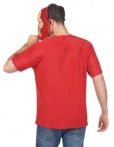 T-shirt en masker van Iron Man™ movie 2 voor volwassenen-1