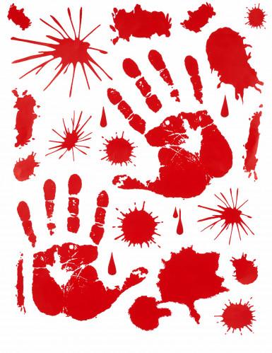 Bebloede handafdrukken stickers Halloween