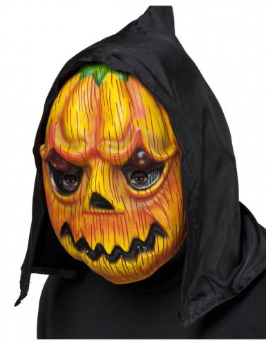 Pompoen masker met capuchon voor volwassenen