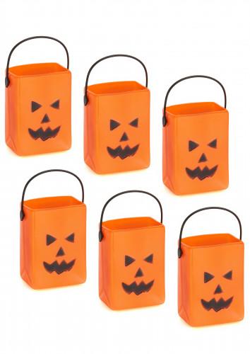 Set van pompoen snoep emmers Halloween
