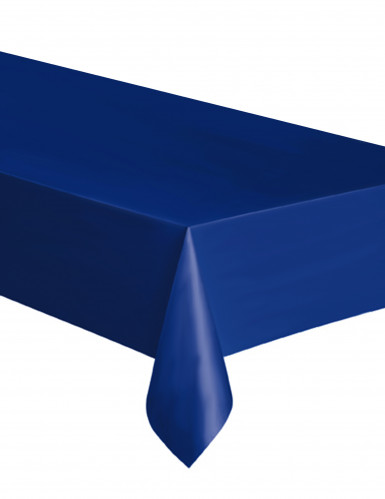 Blauw plastic tafelkleed