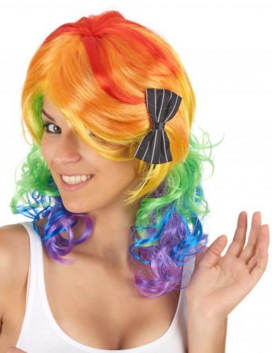 Regenboog pruik voor vrouwen