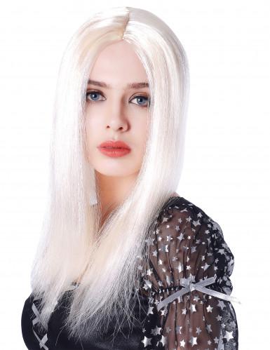 Lange lichte blonde pruik voor vrouwen