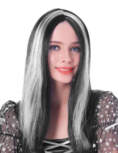 Zwart met witte pruik voor vrouwen