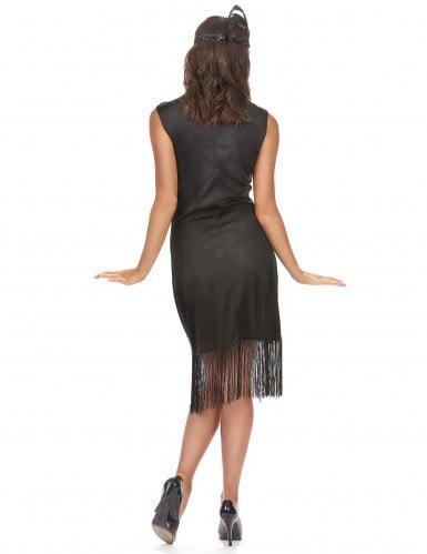 Zwart Charleston kostuum voor dames-1