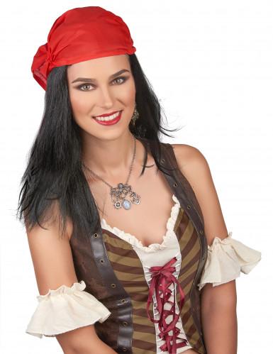 Piraten pruik met hoofddoekje voor heren
