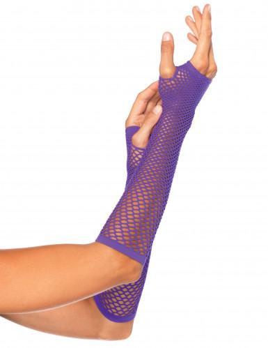 Paarse visnet handschoenen