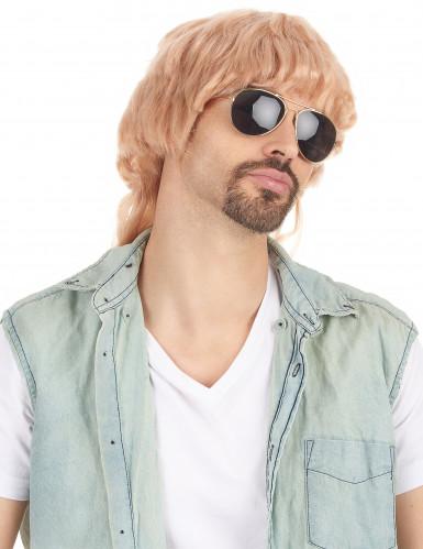 Foute blonde pruik voor heren