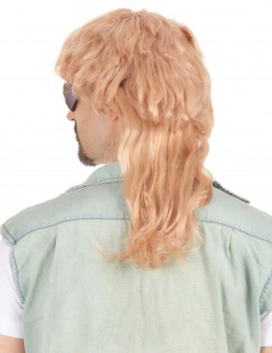 Foute blonde pruik voor heren-1