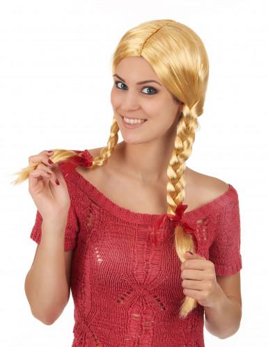 Blonde pruik met vlechten voor vrouwen