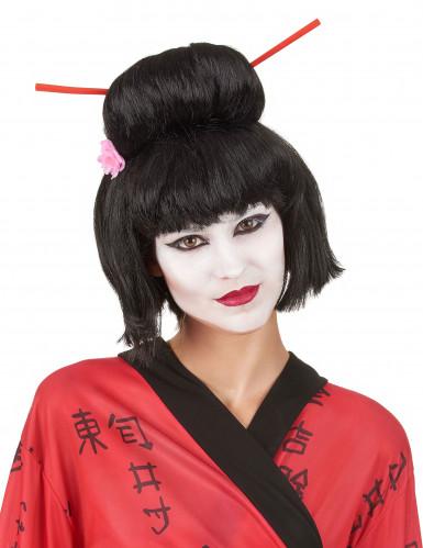 Zwarte Geisha pruik voor vrouwen