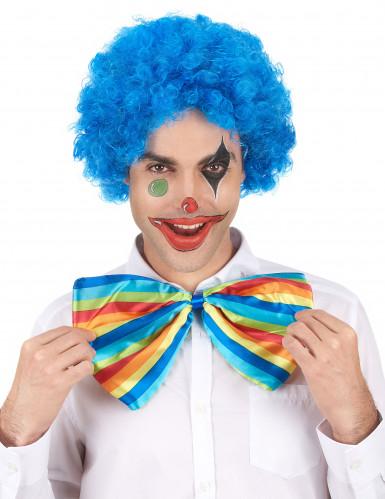 Blauwe afro / clown pruik standaard volwassenen-1