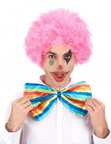 Roze afro / clown pruik voor volwassenen - Comfort