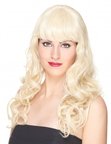 Lange golvende blonde pruik voor vrouwen