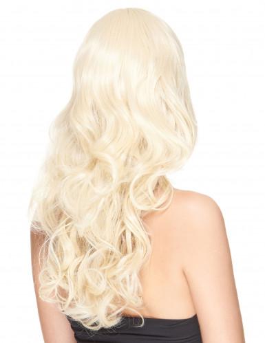 Lange golvende blonde pruik voor vrouwen-1