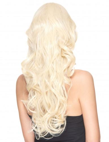Gekrulde blonde pruik voor vrouwen - 251 g-1