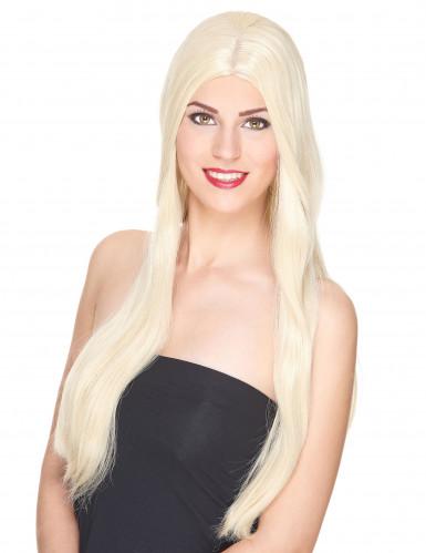Lange blonde dames pruik