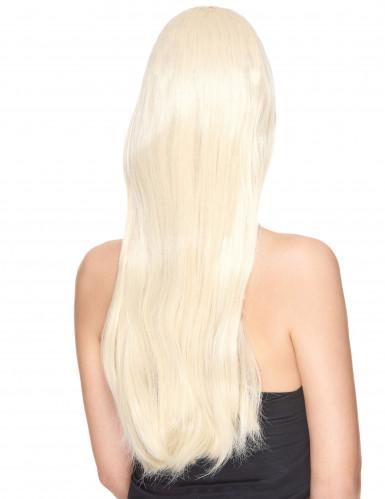 Lange blonde dames pruik-1