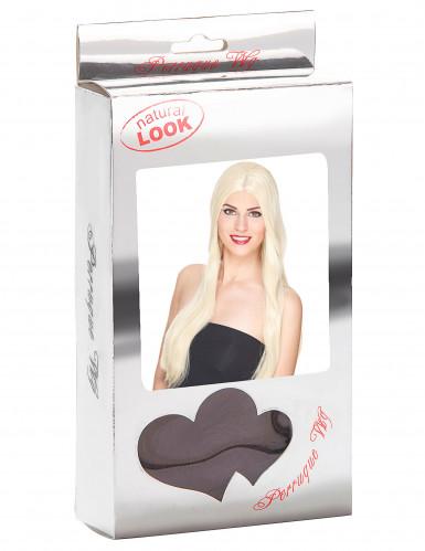 Lange blonde dames pruik-2