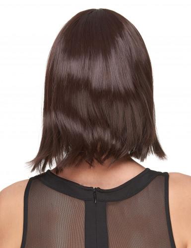 Luxe donkerbruine pruik voor vrouwen-1