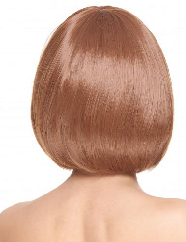 Luxe bruine bob pruik voor vrouwen-1