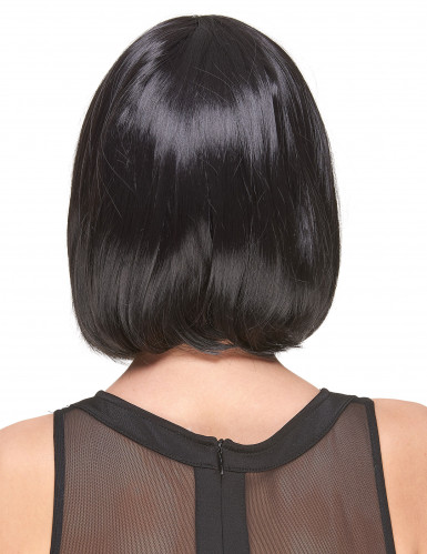 Zwarte bob pruik voor vrouwen-1