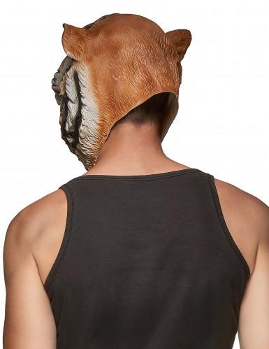 Integraal tijger masker voor volwassenen-1