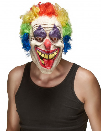 Halloween latex clown masker voor volwassenen