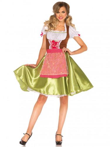 Groene dirndl jurk voor dames