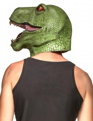 Dinosaurus latex masker voor volwassenen -1