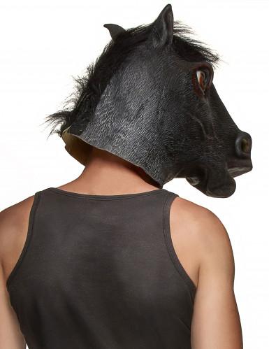 Zwarte paard masker voor volwassenen-1
