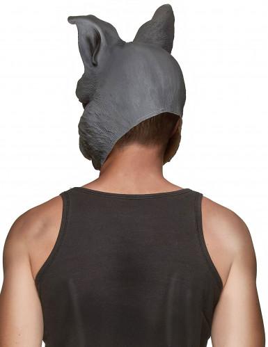 Grijs konijn masker van latex voor volwassenen-1