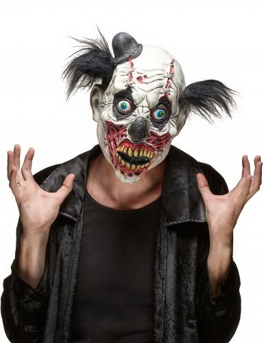 Bloederig zombie clown masker voor volwassenen