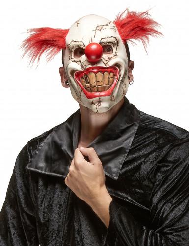 Eng clownsmasker voor volwassenen