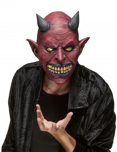 Enge duivel masker voor volwassenen Halloween