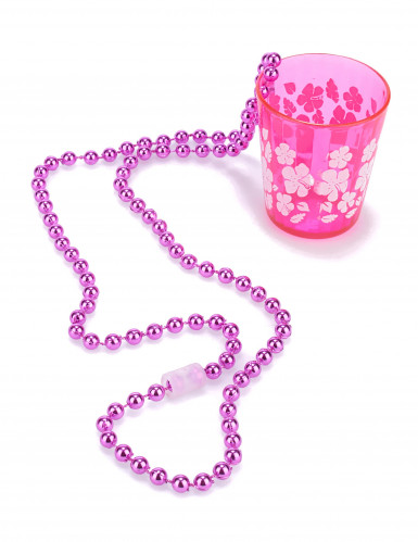 Pack met 12 roze kettingen met shotglazen-1