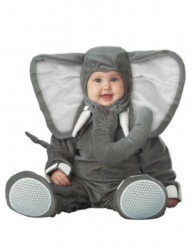 Grijze olifant pak voor baby's - Luxe