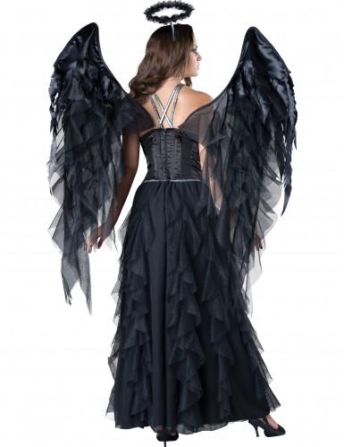 Zwarte engel kostuum voor vrouwen - Premium-1
