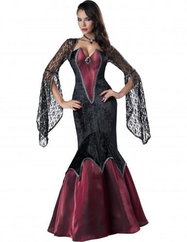 Donkere prinses kostuum voor dames - Premium