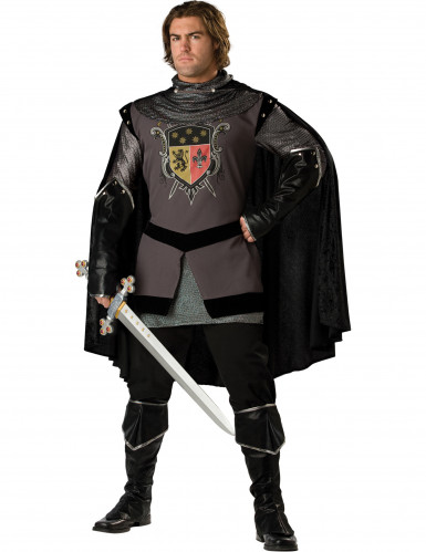 Zwarte ridder kostuum voor heren - Premium