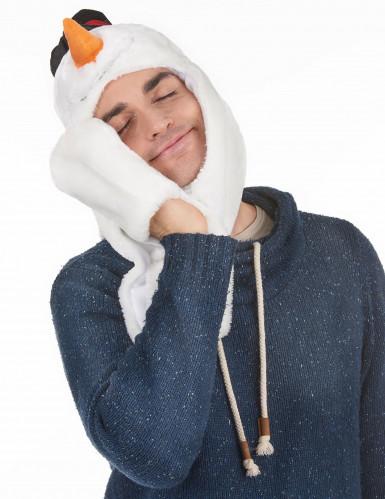 Sneeuwpop muts met sjaal voor volwassenen Kerst-2
