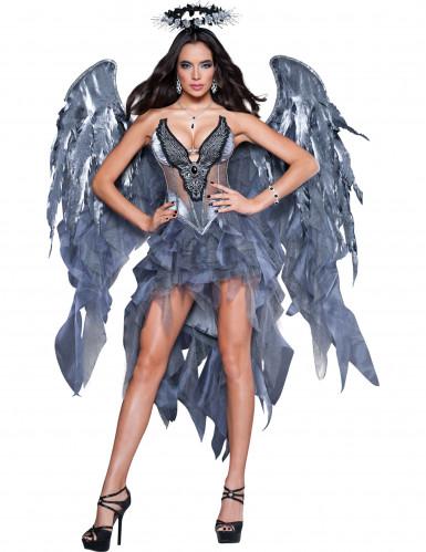 Gevallen Engel kostuum voor dames - Premium