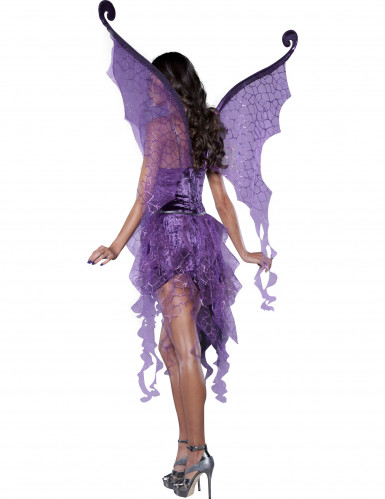 Paars feeën kostuum voor dames - Premium-1