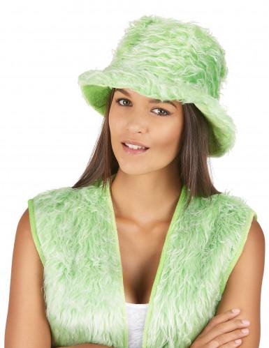 Groen pluizige muts voor volwassenen -1