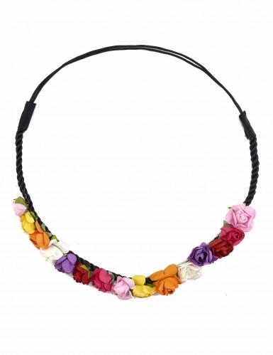 Veelkleurige bloemen krans voor dames