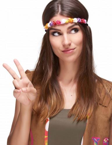 Veelkleurige bloemen krans voor dames-1
