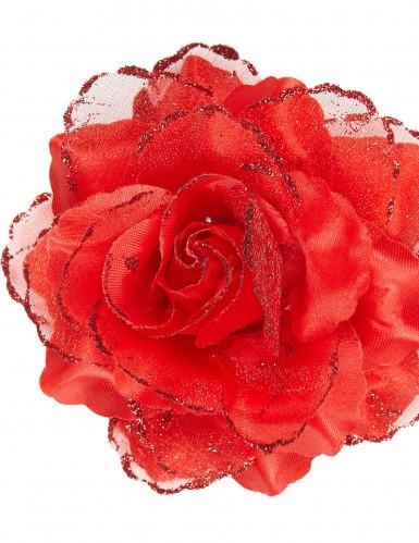 Rode roos haarspeld voor vrouwen