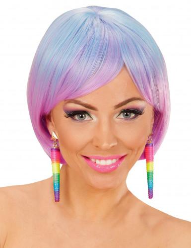 Multikleurige spiraal oorbellen voor vrouwen